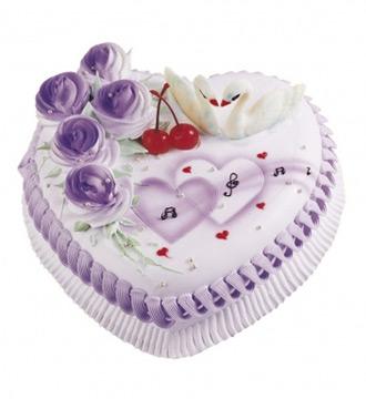 心形鲜奶蛋糕/两两相依_麦可蛋糕网